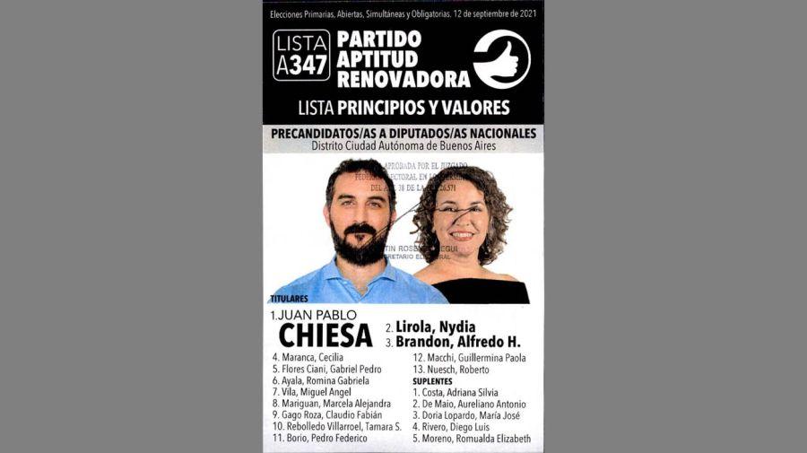 Boletas precandidatos Paso 2021 Ciudad de Buenos Aires 20210906
