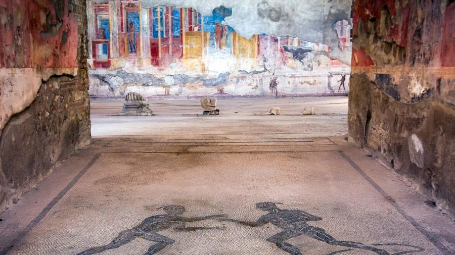 Ruinas y frescos de la antigua ciudad de Pompeya, Italia 20210906