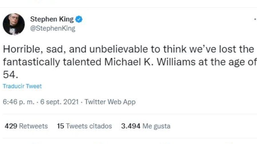 Stephen King mensaje muerte Michael K Williams