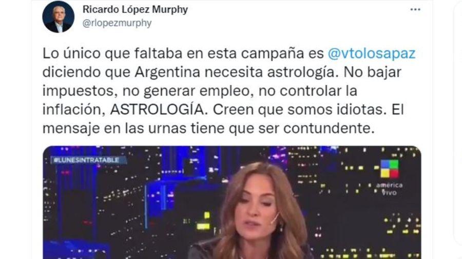 Criticas a Victoria Tolosa Paz por astrologia