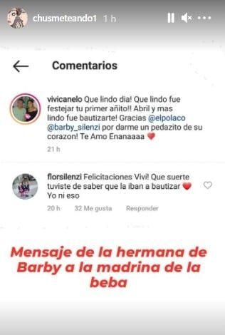 Escándalo con Barby Silenzi: picante mensaje de su hermana en redes