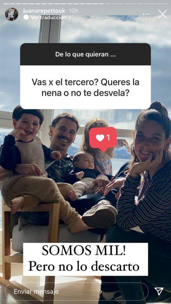 Juana Repetto se refirió a la posibilidad de tener más hijos: ¿qué dijo?