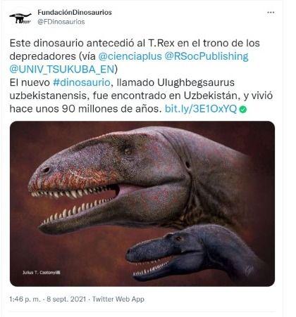 Descubren nuevo dinosaurio a través de un fósil
