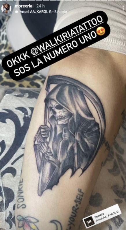 More Rial se hizo un nuevo tatuaje, gigante y temeroso: miralo