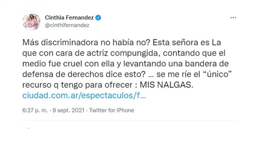 Cinthia Fernández twitter 0909