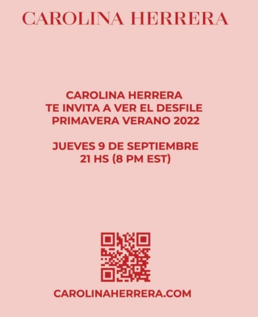 Desfile Carolina Herrera primavera verano 2022