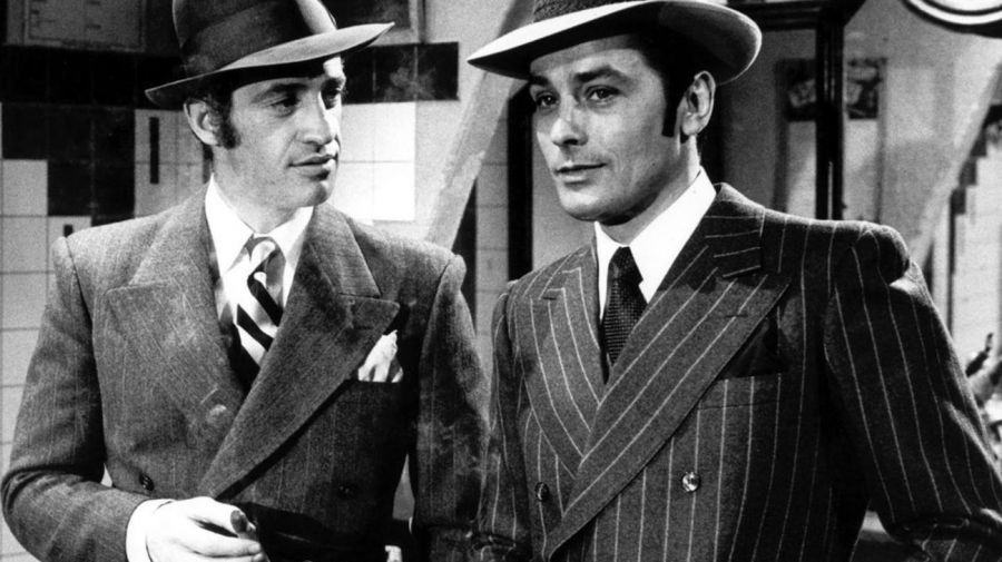Jean-Paul Belmondo y Alain Delon jovenes