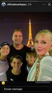 ¿Qué dirá Wanda? Las fotos de Maxi López en París con sus hijos y su novia