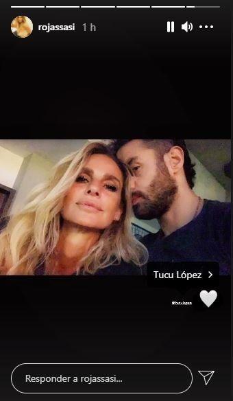 Sabrina Rojas subió una foto con el Tucu López y una particular canción