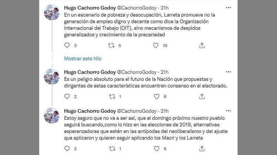 Twit de Hugo Godoy 20210909