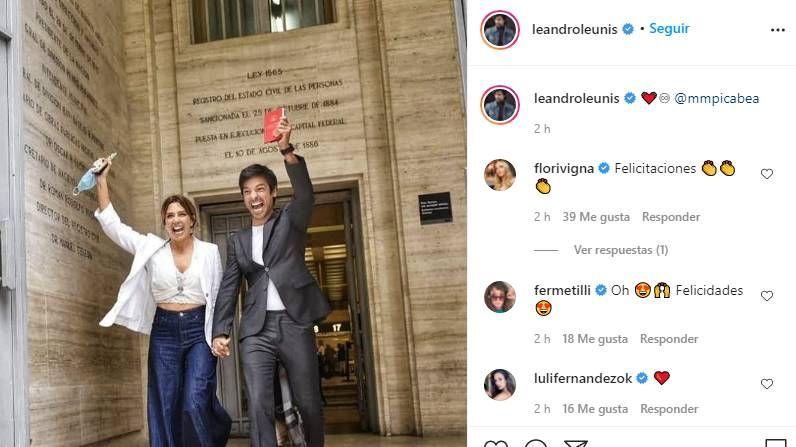 Chino Leunis se casó en secreto con su novia tras dos años de amor