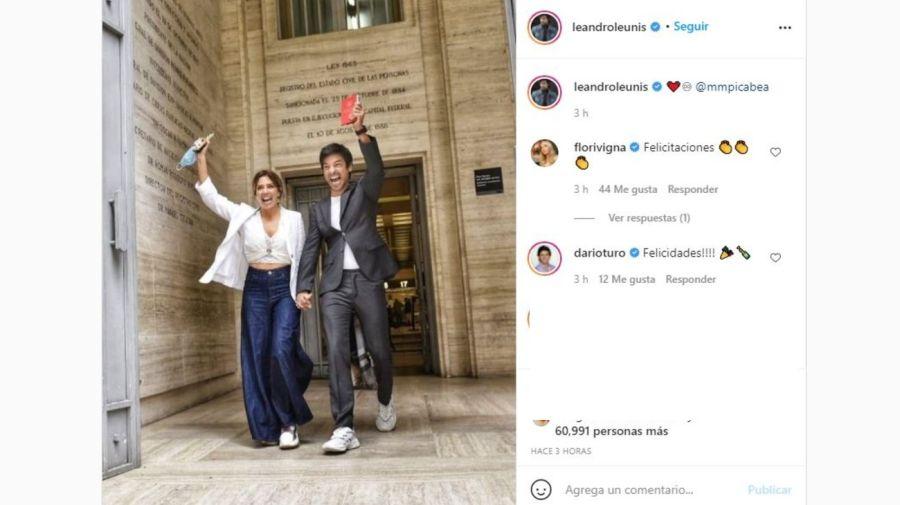 Chino Leunis y Maria Magdalena Martinez Picabea casamiento