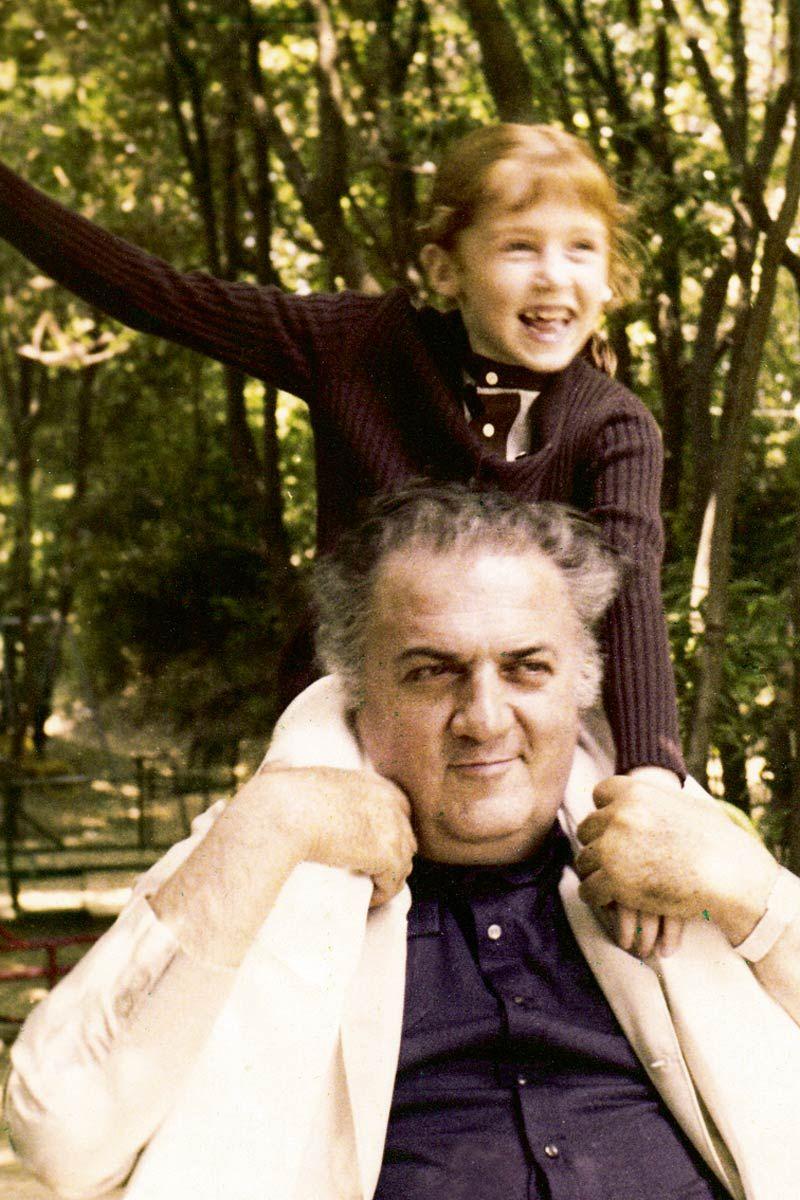 Francesca y Federico Fellini
