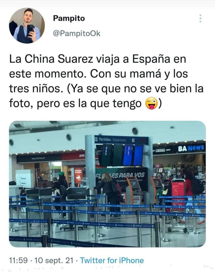La China Suárez se fue del país: revelan cuándo será el reencuentro con Benjamín Vicuña