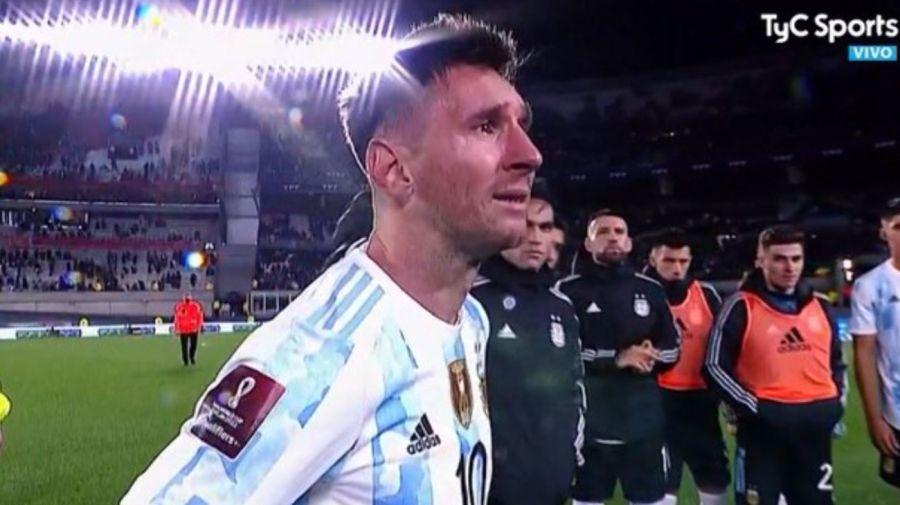 Messi llorando