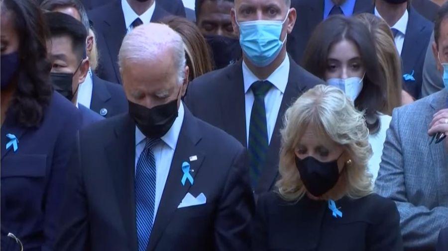 El presidente Joe Biden, en el homenaje por los 20 años del atentado a las Torres Gemelas.
