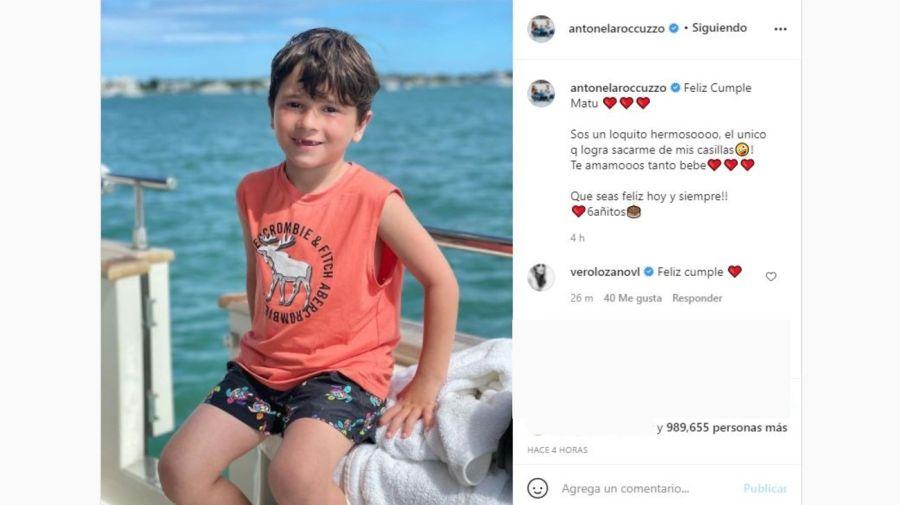 Mensaje Antonela Roccuzzo a Mateo Messi