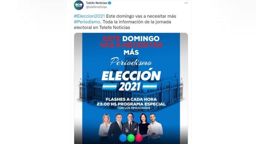 Telefe cobertura PASO 2021