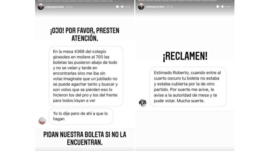 Denuncia falta boletas Roberto Garcia Moritan