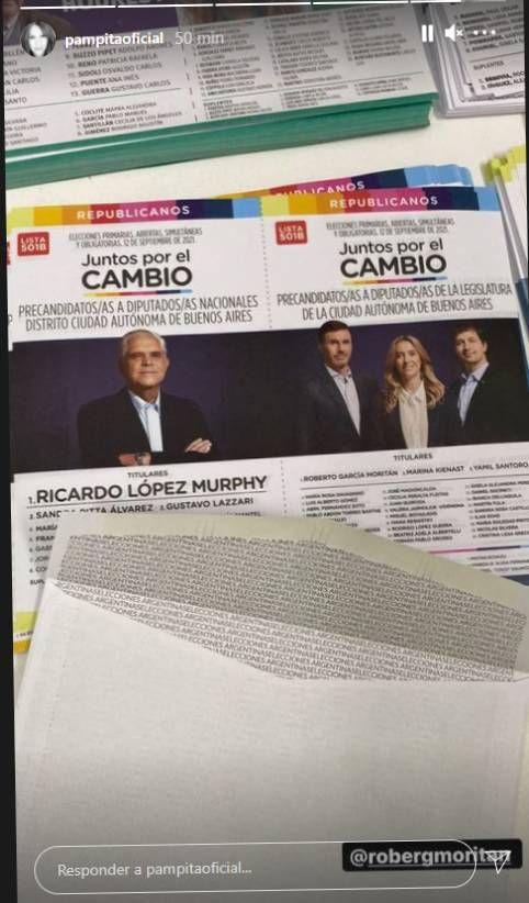 El apoyo de Pampita a Roberto García Moritán para las PASO 2021