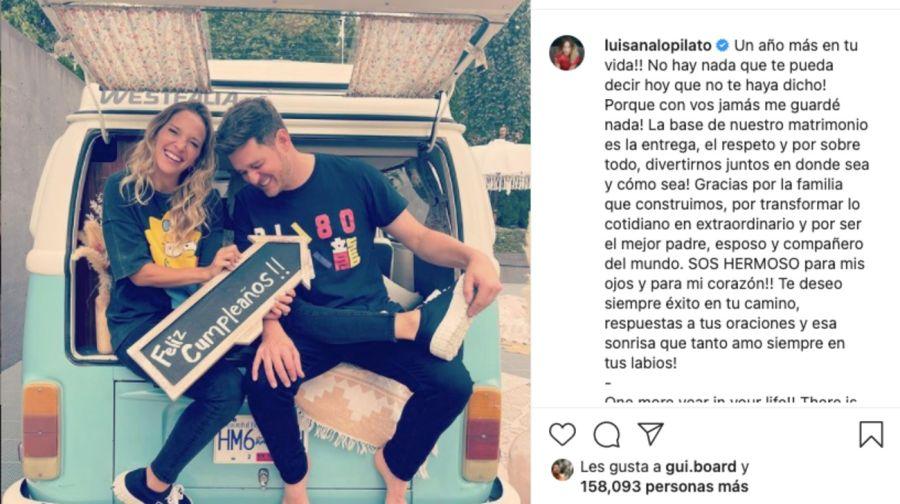 El romántico mensaje que le dedicó Luisana Lopilato a MichaelBubléen el día de su cumpleaños
