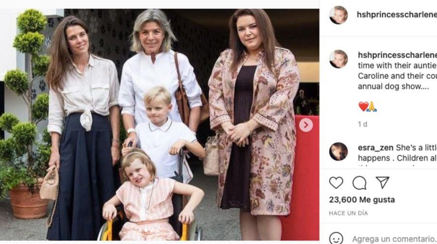 Gabriellade Mónaco: La hija deCharlenede Mónaco sorprendió apareciendo en silla de ruedas