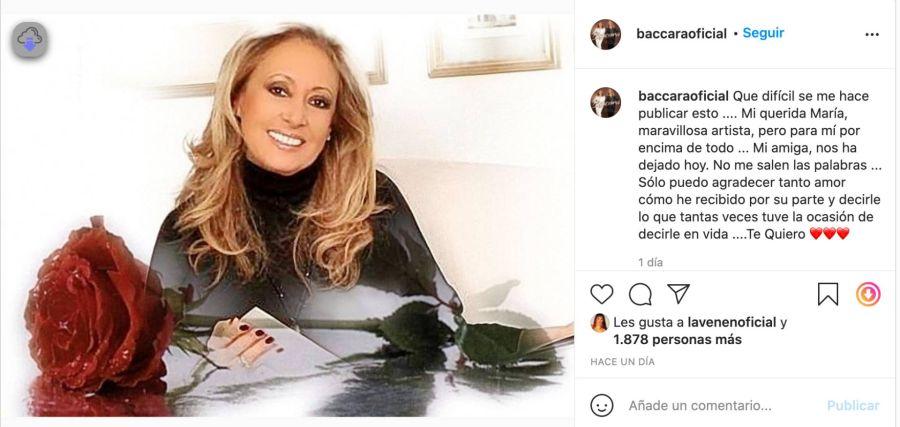 María de Baccara falleció a los 69 años