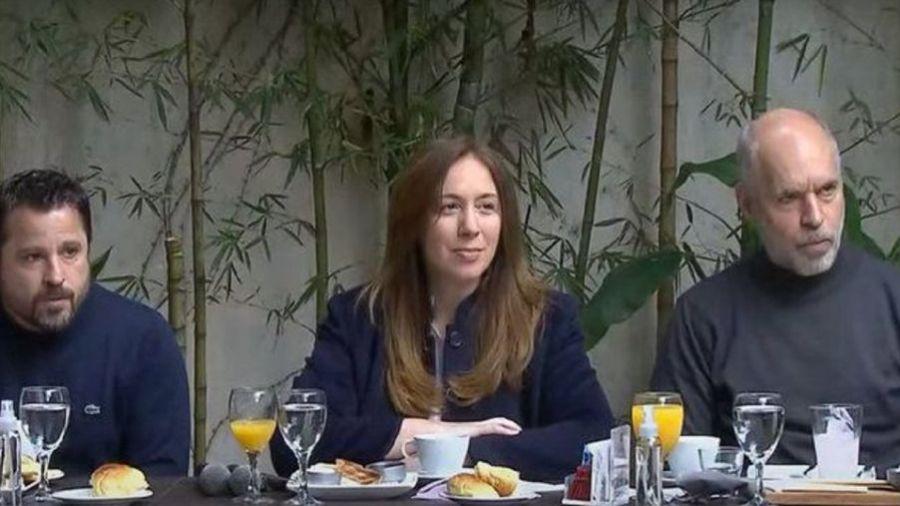 María Eugenia Vidal, Martín Tetaz, Horacio Rordríguez Larreta