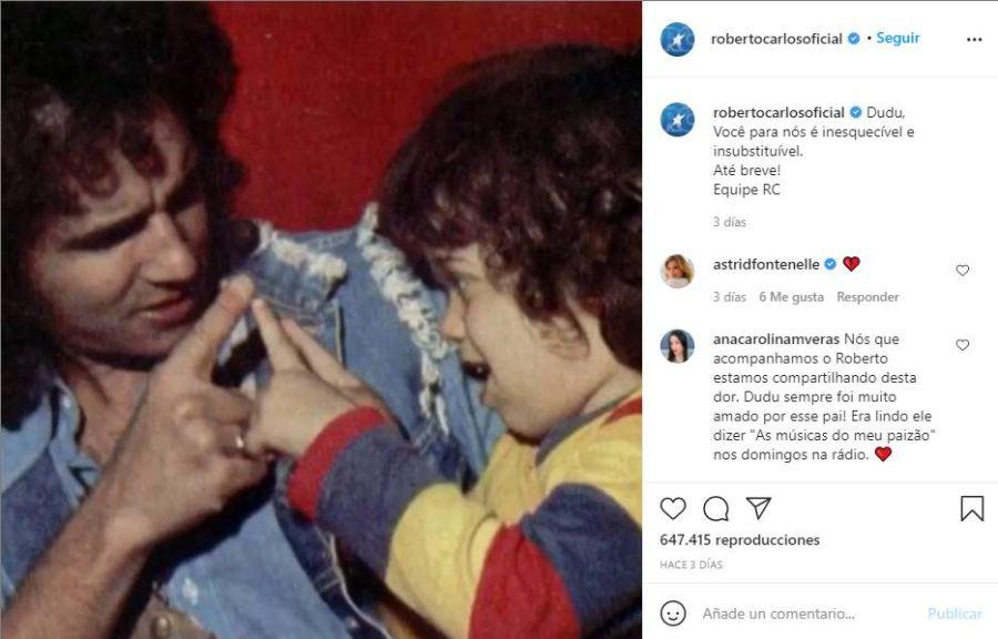 Murió Dudu, el hijo del músico Roberto Carlos