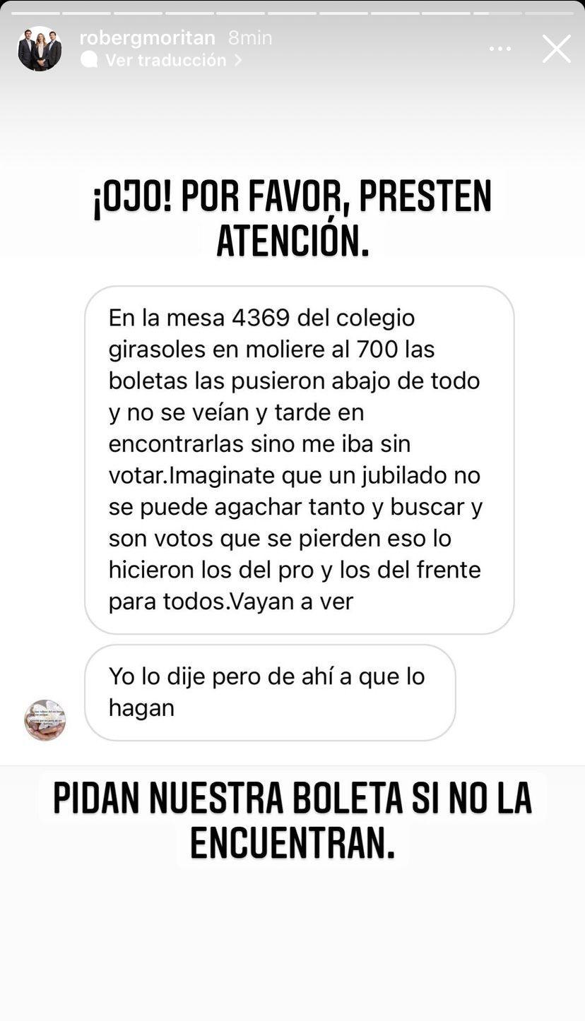 PASO 2021: Roberto García Moritán hizo un contundente pedido tras recibir una denuncia