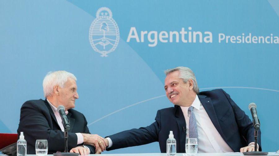 Alberto Fernández y Antonio Caló 20210913
