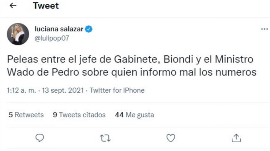 Bomba Luciana Salazar por el Frente de Todos