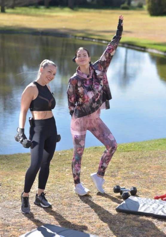 Enterate cómo es es el súper plan fitness de la China Suárez con la misma instructora de Laurita Fernández