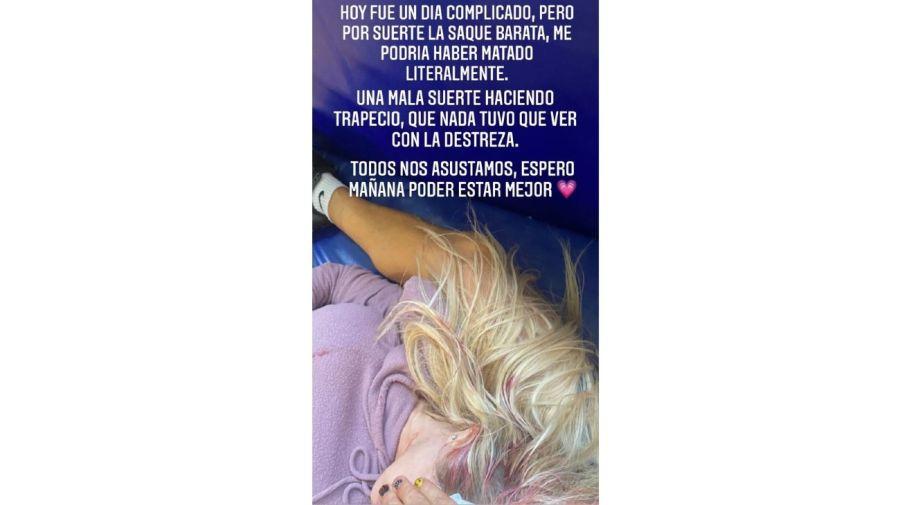 Luciana Salazar accidente