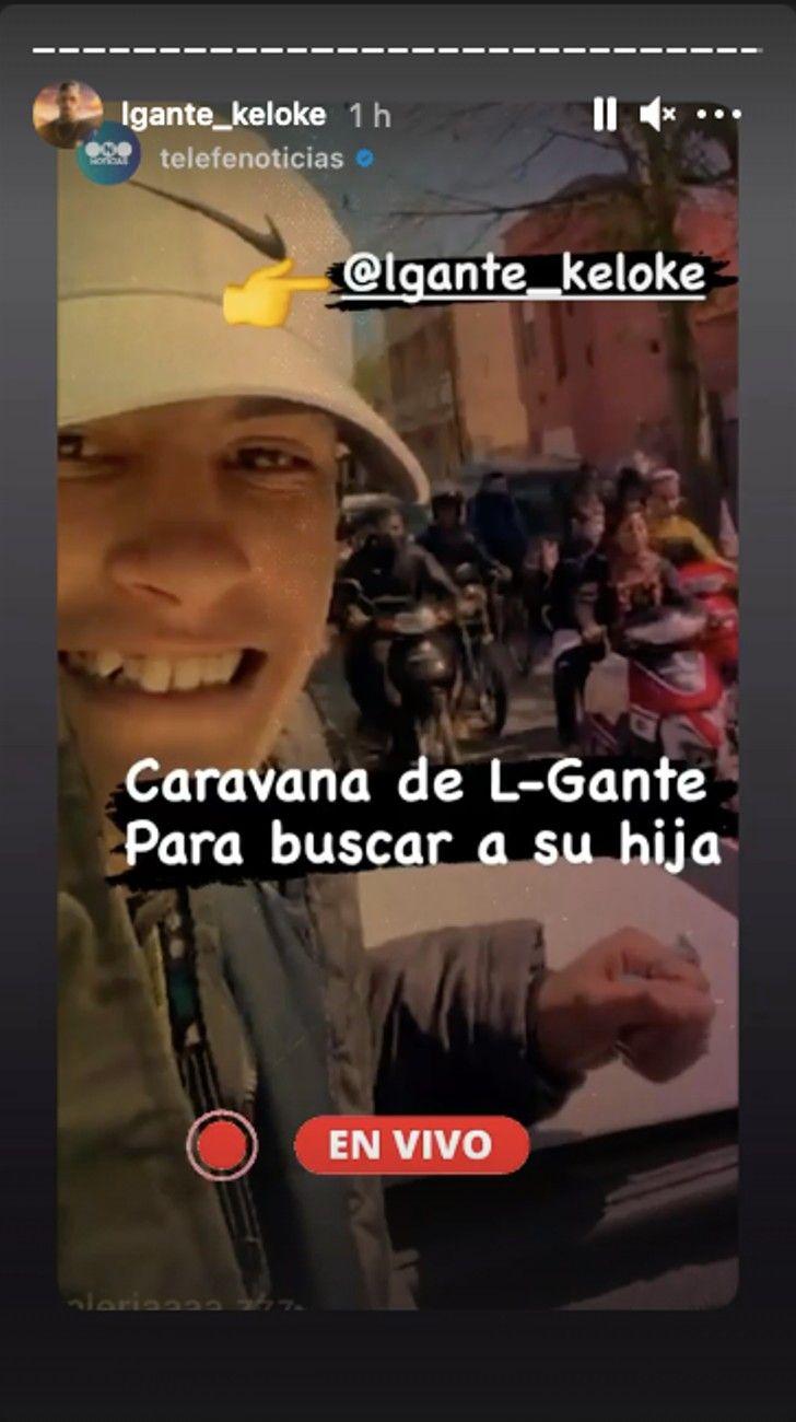 L-Gante retiró del hospital a su hija Jamaica, en limusina y con una caravana
