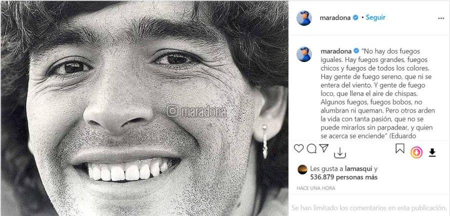 Los hijos de Maradona reactivaron su cuenta de Instagram:
