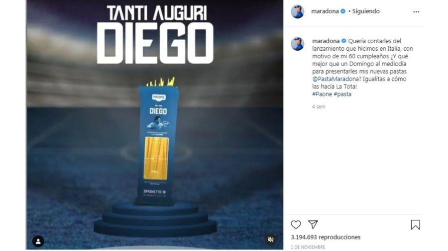 Ultimos posteos cuenta Instagram Diego Maradona