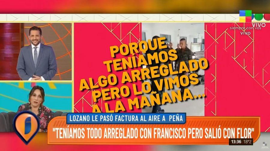 Enfrentamiento Veronica Lozano y Florencia Peña