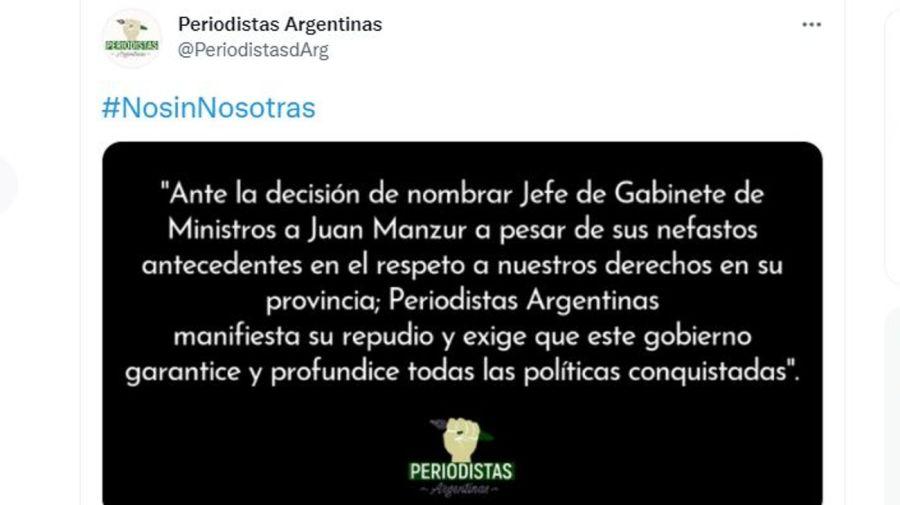 Comunicado Colectivo Periodistas por Juan Manzur