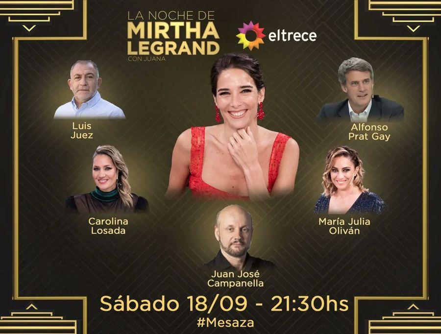 Juana Viale al frente de la mesa de Mirtha Legran: Estos serán sus invitados