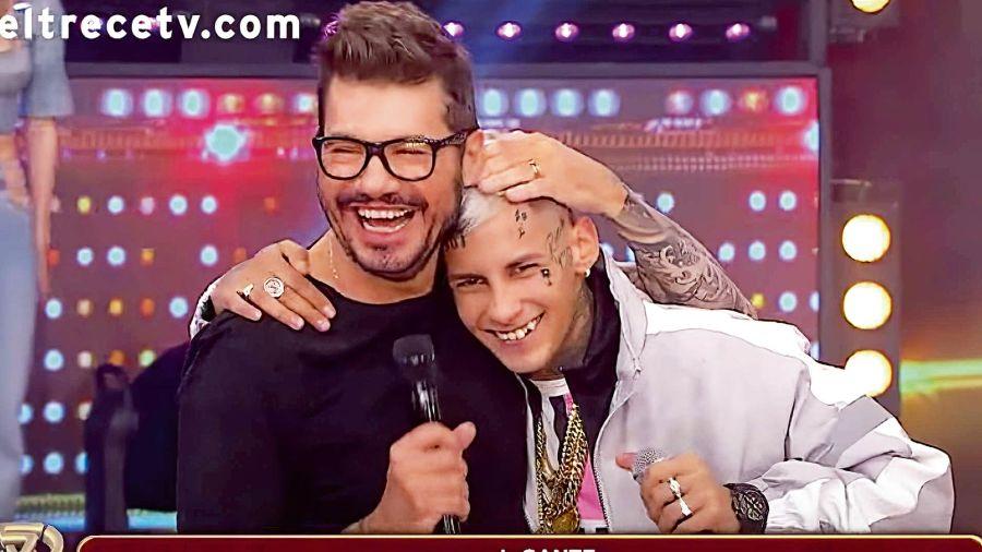 L-Gante con Marcelo Tinelli.