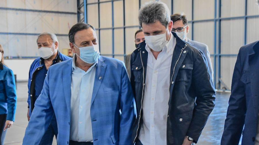 La llegada de los gobernadores peronistas a La Rioja, para encontrarse con el presidente Alberto Fernández.