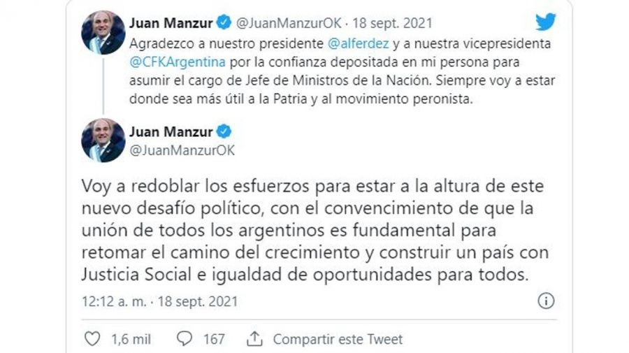 Mensaje Juan Manzur