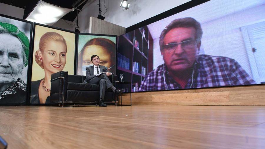 Agustín Rossi, en la entrevista con Jorge Fontevecchia.