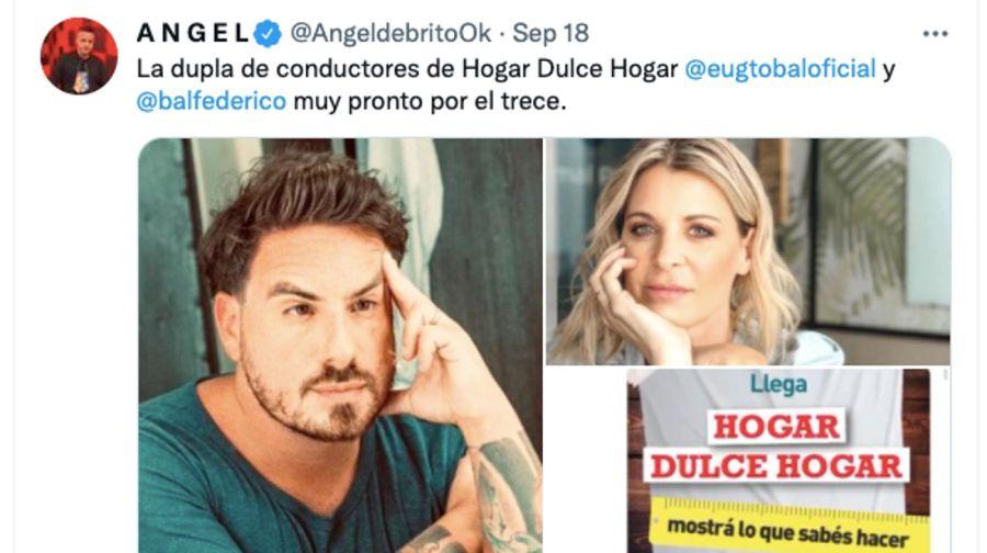 Ángel de Brito confirmó quien será la compañera de FedeBalen la conducción del nuevo programa de LaFlia