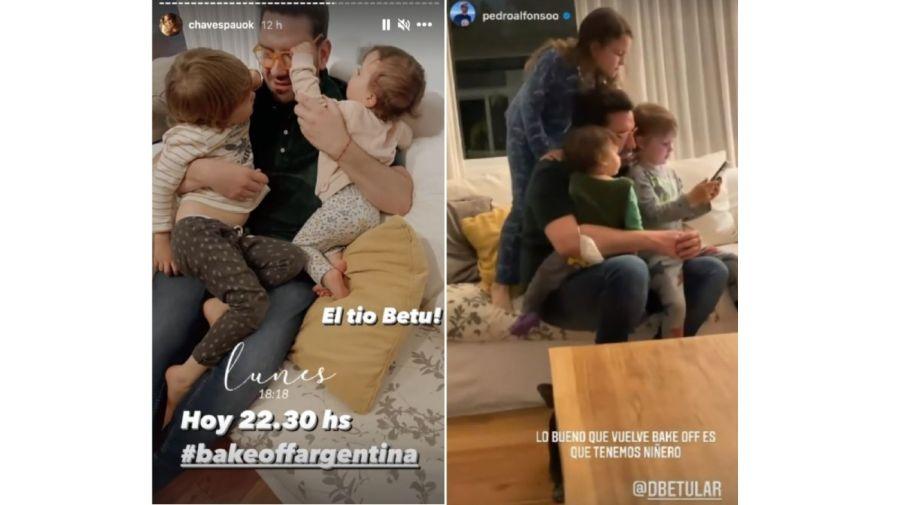 Damian Betular y los hijos de Paula y Pedro