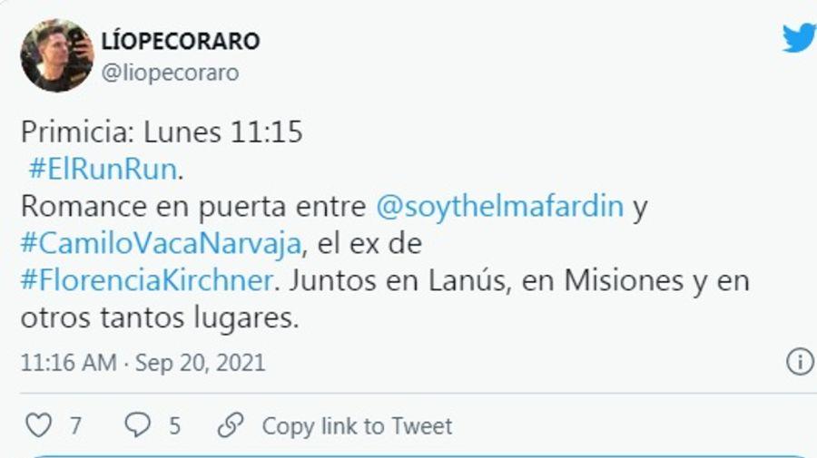 Lío Pecoraro Twitter