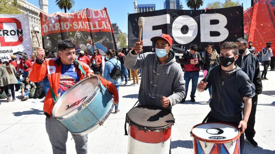 Movilización de Organizaciones sociales por Plaza de Mayo 20210921