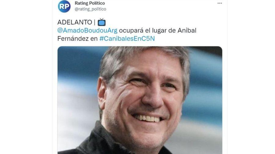 Amado Boudou en Canibales