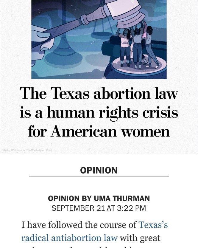 """Uma Thurman contó que se hizo un aborto: """"Fue la decisión más difícil de mi vida"""""""
